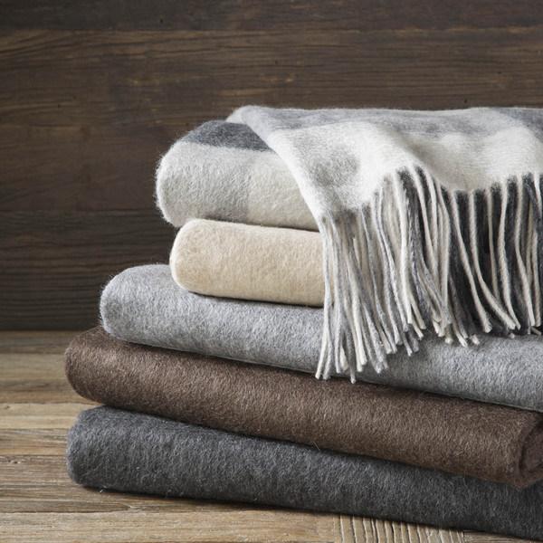 Warm Lambs Wool Woven Blankets