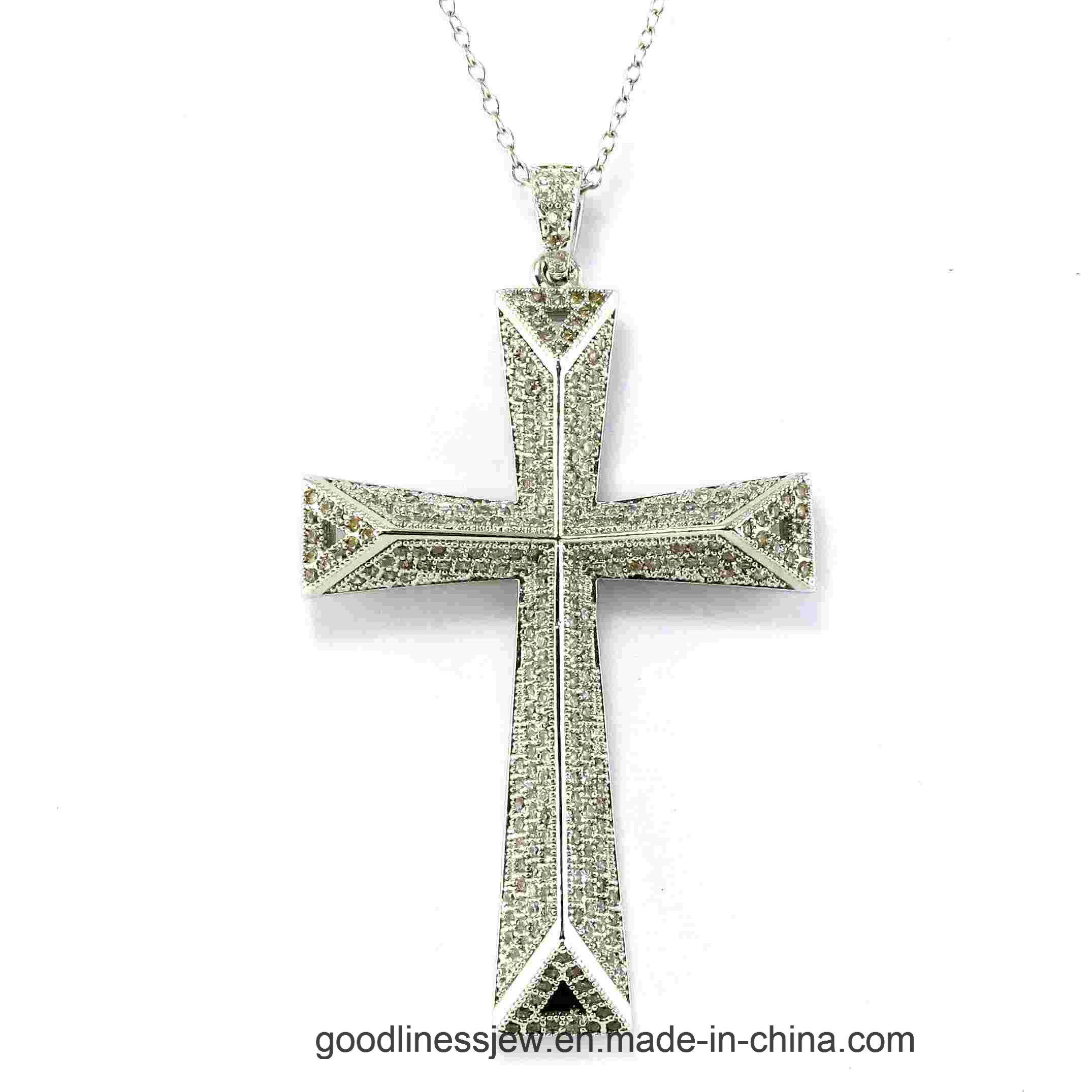New Listing Fashion 925 Sterling Silver Cross Pendant P4999