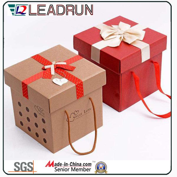 Cardboard Paper Present Gift Souvenir Packing Box Jewelry Gift Tin Box Wine Wood Gift Box (M223)