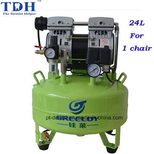 CE Noiseless 24L Dental Air Compressor (TDH-61)
