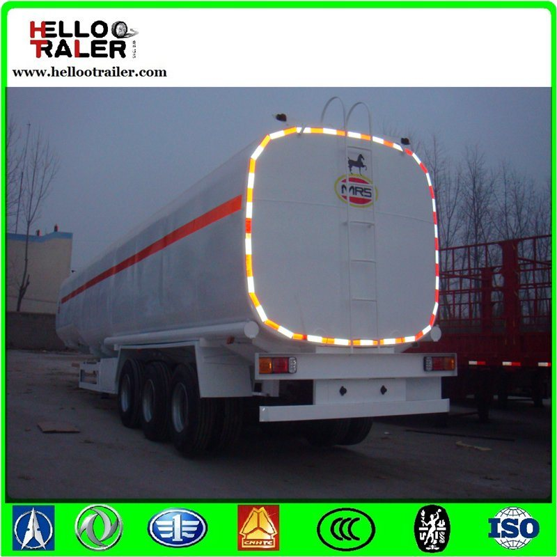 385/65r22.5 Single Tyre 50000 Liters Oil Tanker Truck Trailer for Tanzania