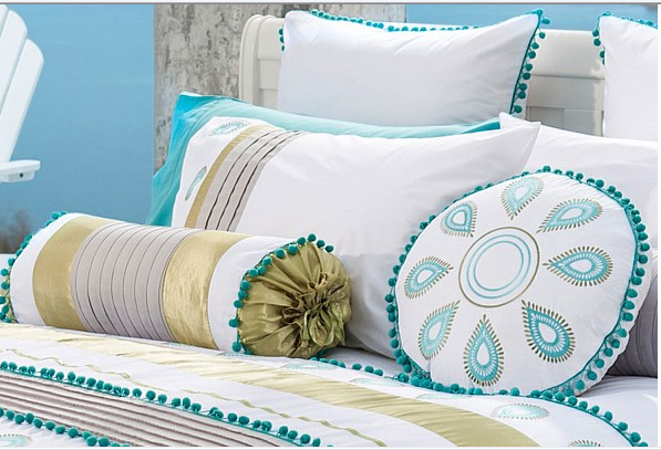 Summer Beach Embroidery Patchwork Bedding Sets