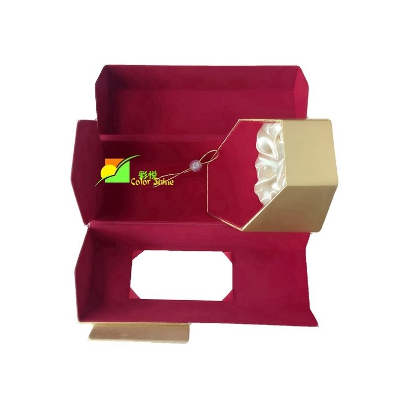 Classic Golden Wine Paper Packing Gift Box
