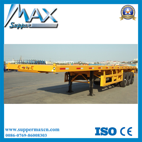 40ft 3 Axle Flatbed Semitrailer with Mechanical Suspension