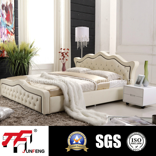 2017 Modern Leather Bed 8158