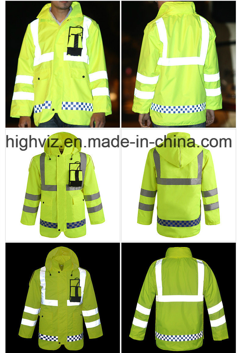 Reflective Safety Rain Jacket with ANSI107 Certificate (C2443)
