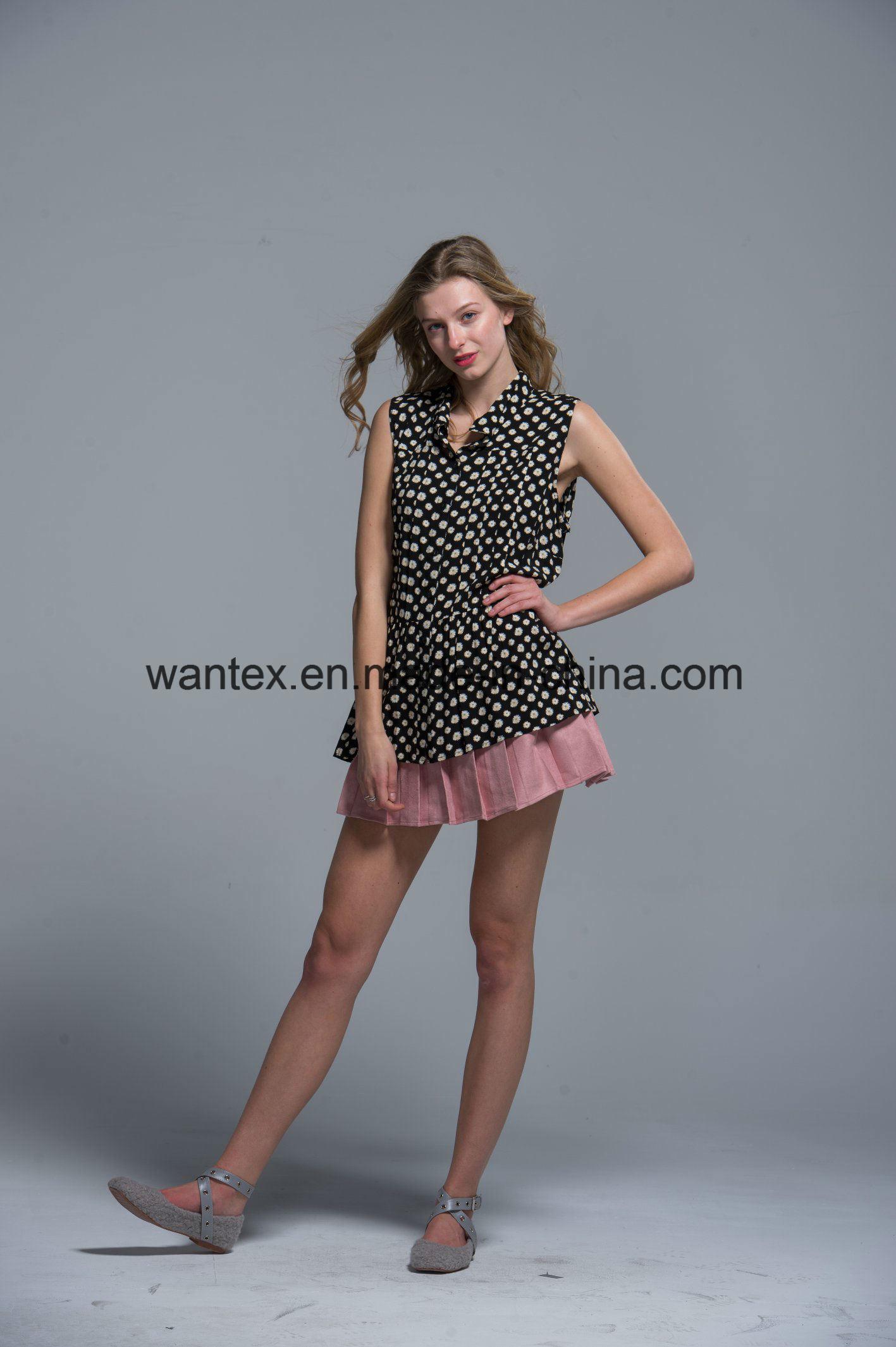 Ladies Blouse 100% Polyester Fashion Shirt Fashion Top Summer Girl Comfortable