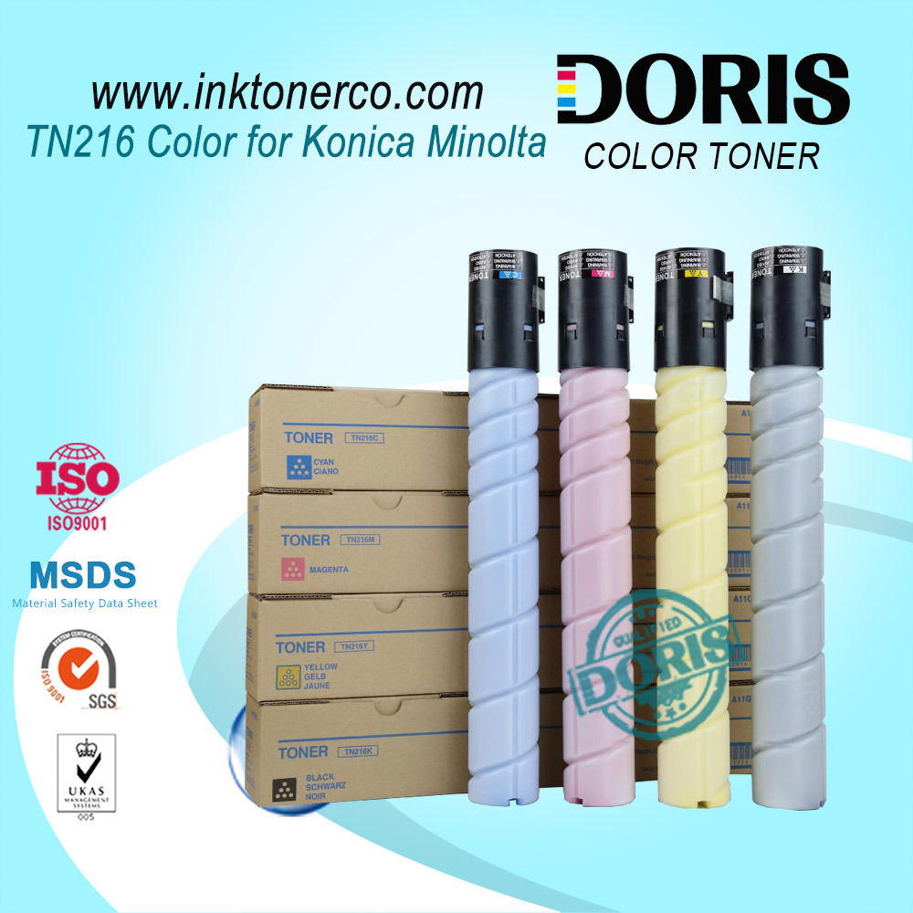 Color Toner Powder Tn216 Copier for Konica Minolta Bizhub C220 C280 C360 Copier Parts