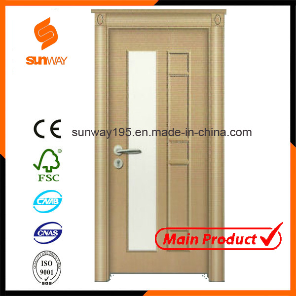 Quality Turkish Glass PVC Wooden Door with Certificate (SW-A001)