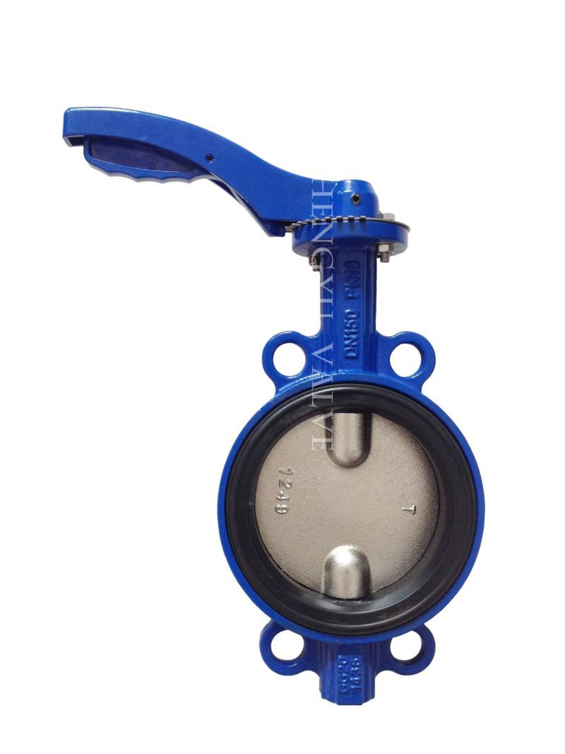 Cast Iron EPDM Seated Wafer Butterfly Valve with Seat Ring,