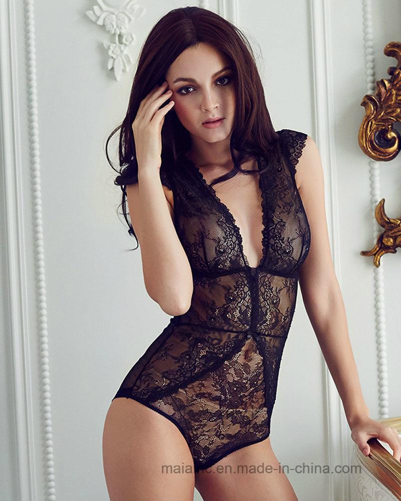 High Quality Sexy Lace Ladies Sleepwear