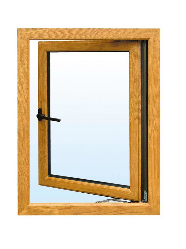 China bridge cut aluminum wooden outward casement window for Wooden casement windows