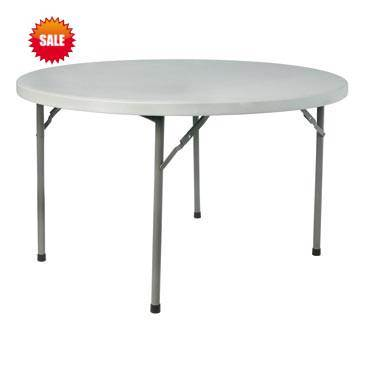 Blow Molded Plastic Round Table Folding 48′′*30′′