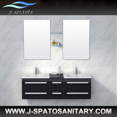 China european morden high gloss black 2 person bathroom cabinet js c8006 china bathroom - Bathroom cabinets black gloss ...
