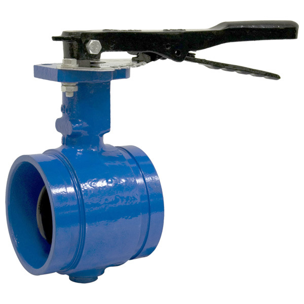 China grooved end butterfly valve ball gate