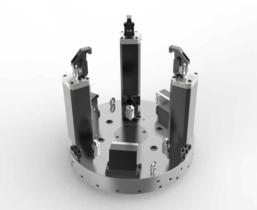 Motor Housing Hydraulic Lathe Workholding