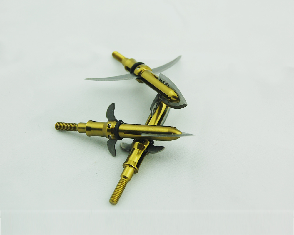 100 Grain Golden Expandable Archery for Archery (P-227 YELLOW)