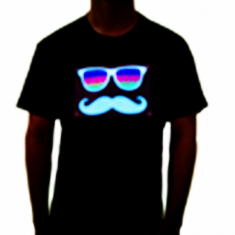 Sound Activated Electroluminescent T Shirts