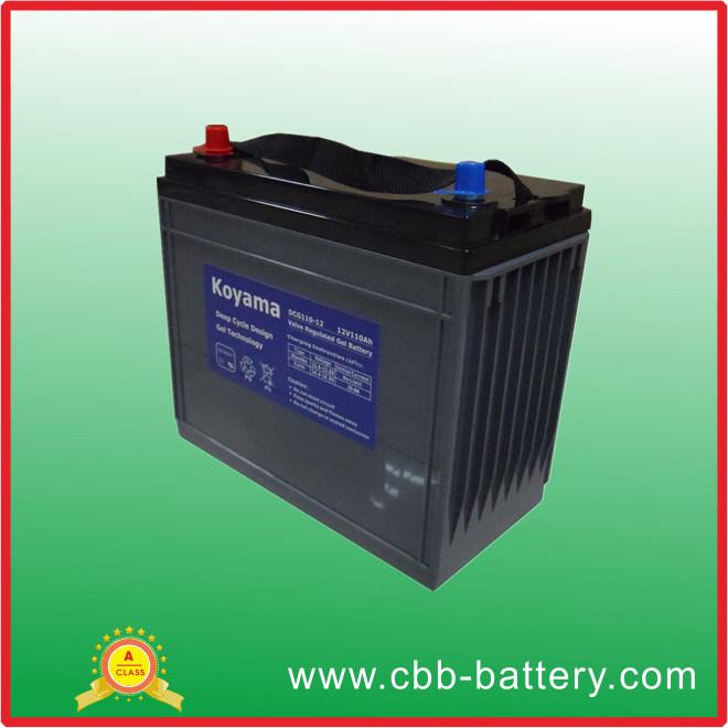 110ah 12V Automotive Terminal Deep Cycle Gel Battery
