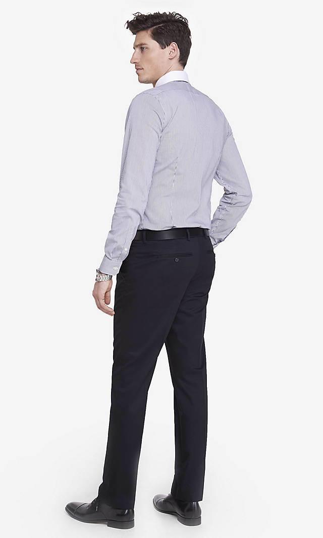 Wholesale Customerized Men′s Non-Iron Wrinkle-Free Cotton Straight-Leg Dress Pants
