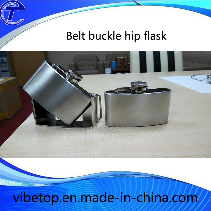 Stainless Steel Belt Buckle Hip Flask Vf-123