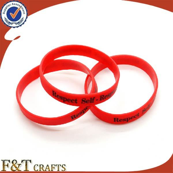 Promotional Souvenir Gift Custom Logo Silicone Bracelet