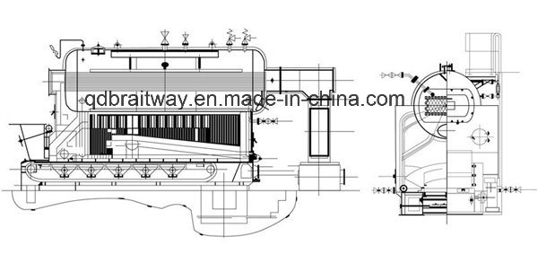 Coal Fired Packaged Chain Grate Steam Boiler (DZL) -Coal Fired