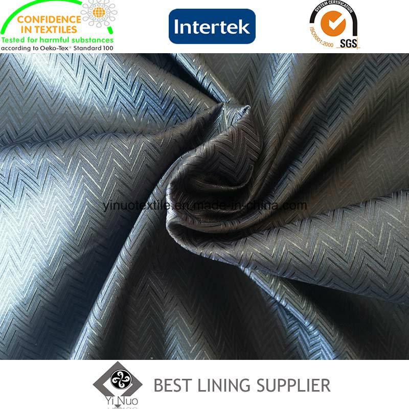 100 Polyester Men′s Jacket Lining Fabric Mini-Jacquard Lining