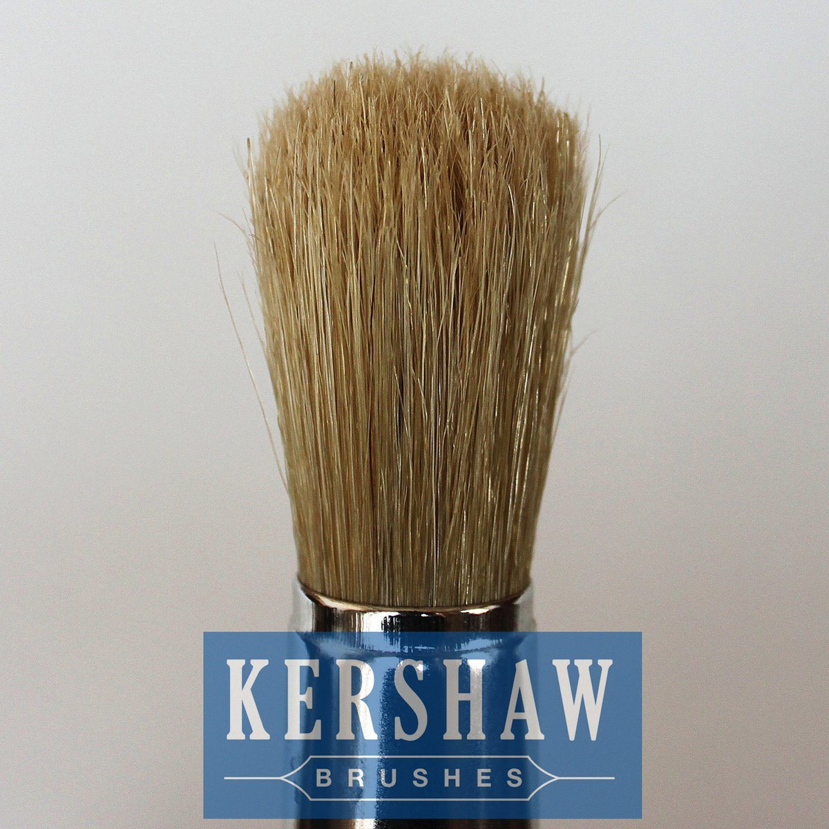 Round Brush (Paintbrush with Pure White bristle and hard wood handle, flat-round brush)