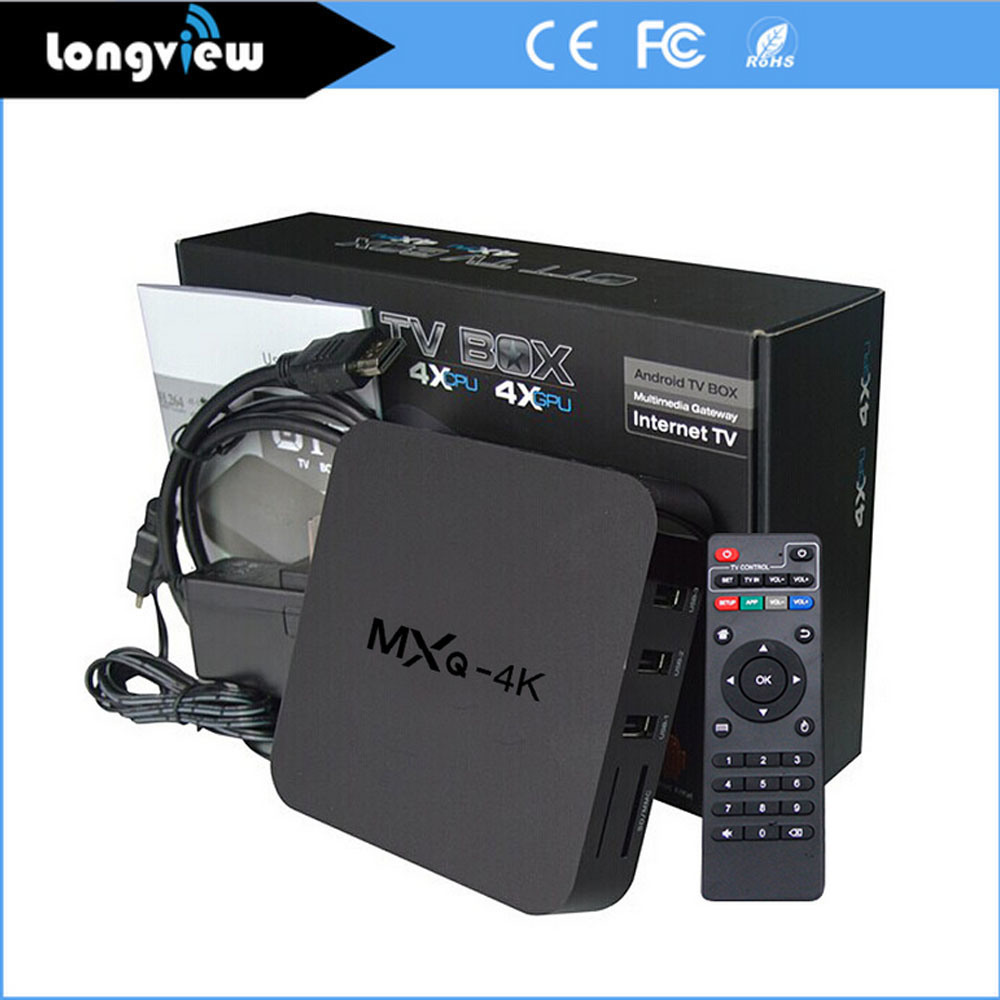 Rk3229 Ott Solution Mxq 4k Android 4.4 Quad Core A7 Smart TV Box