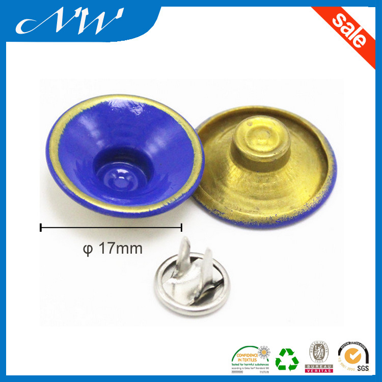 New Fashion Customized Metal Brass Jeans Shank Button with Two Pin