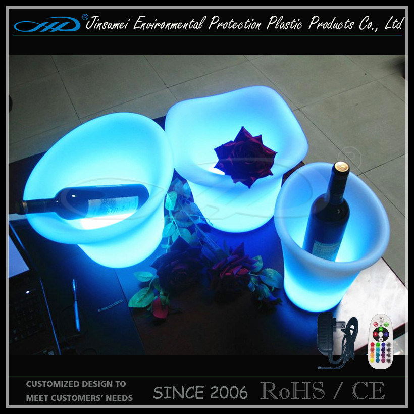 Beer Bottle Ice Bucket with LED Lights