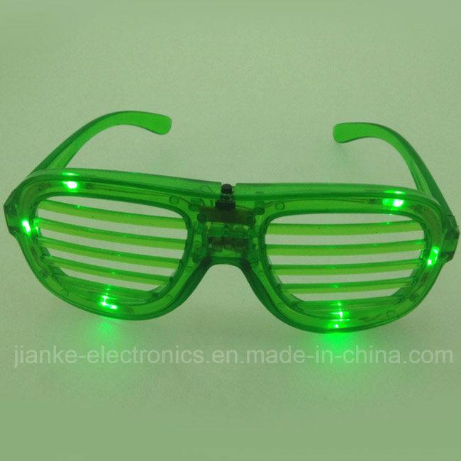 2015 Shutter LED Flashing Sunglasses with Logo Print (4039)