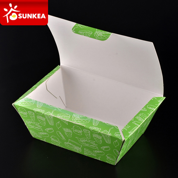Custom Brand Printed Disposable Paper Bento Box