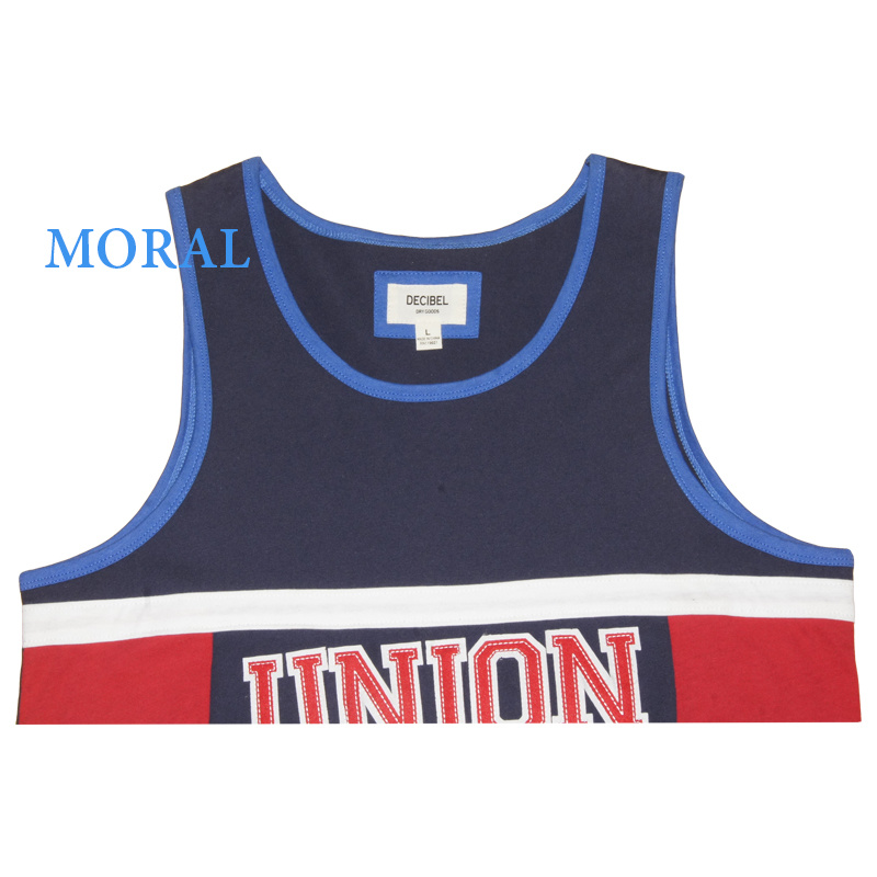Men′s Sport Basketball Vests with Round Neck