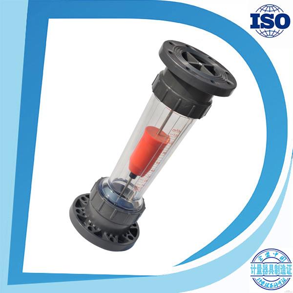 Bsp Thread Socket-End Flange Long Tube Shorttube Plastic Flowrate Flow Sensor Transparent Tube Plastic Flowmeter