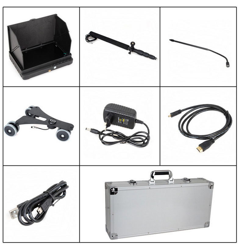 1080P HD Digital Under Vehicle Car Detector System Camera with 2m Telescopic Pole