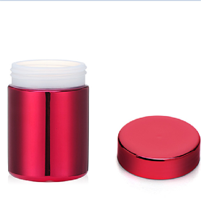 8oz/250ml Red HDPE Metalization Red Plastic Canister