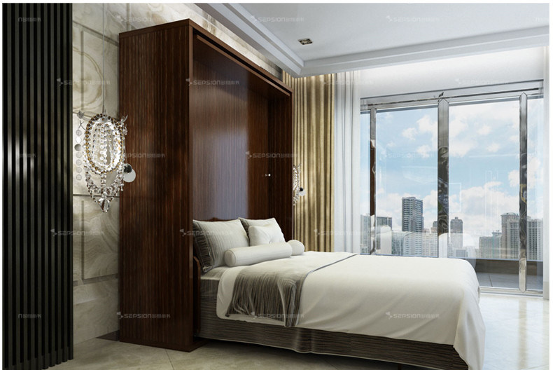 New Design Bedroom Furniture Revolving Wall Bed
