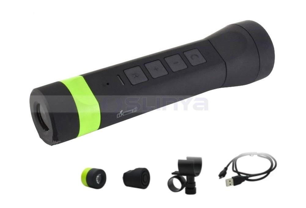 4 in 1 Wireless waterproof Bluetooth Bike Speaker with LED Light 3000mAh Power Bank