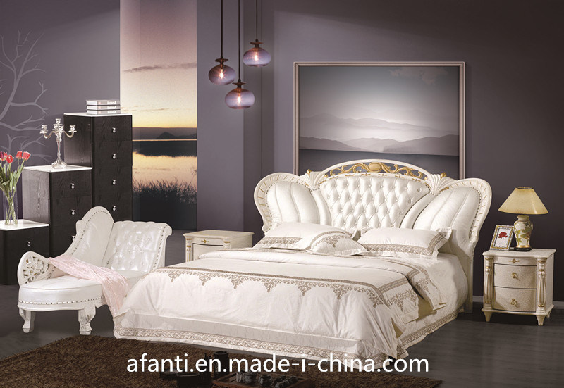 China fashionable bedroom furniture luxury leather royal princess bed 1 photos pictures - Chambre de princesse adulte ...