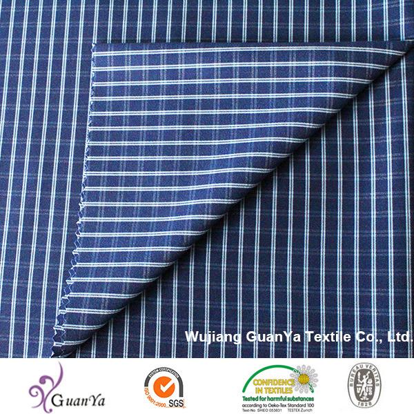 Indigo Cationic Yarn Dyed Fabric for Shirt