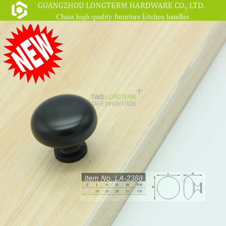 Mat Black Polish Cute Cabinet Knob