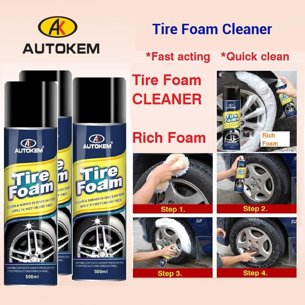 Tire Foam Aerosol Spray, Foaming Tire Cleaner, Tire Shine