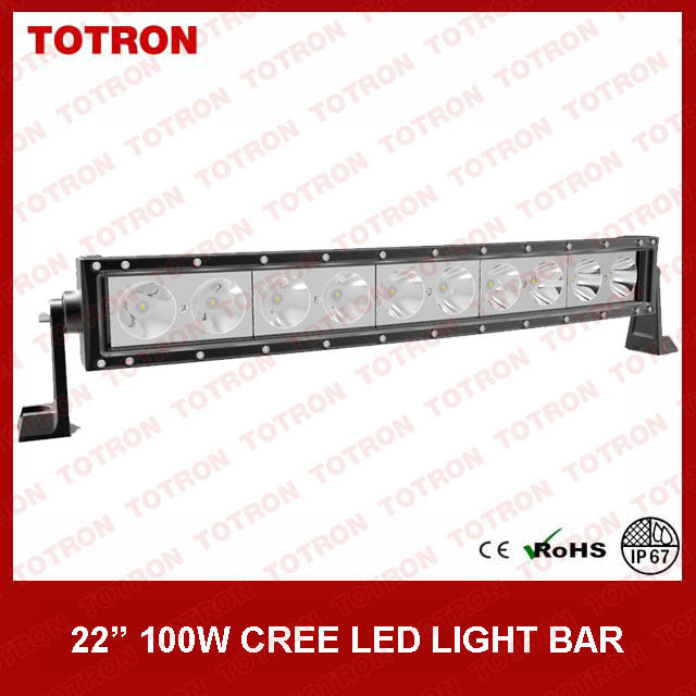 21.5 Inch 100W Single Row Curved LED Light Bar for Offroad with CE, RoHS, IP67 Certificated (TLB5100X)