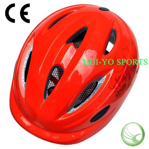 in-Mold Child Helmet, Orange Helmets, Children Skate Helmet