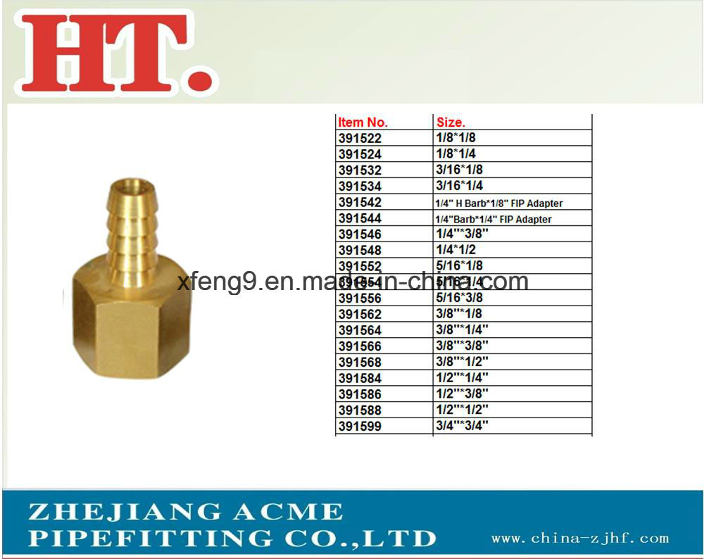 Brass Barb Adapter Hydraulic Hose Fitting (I. D X FIP)