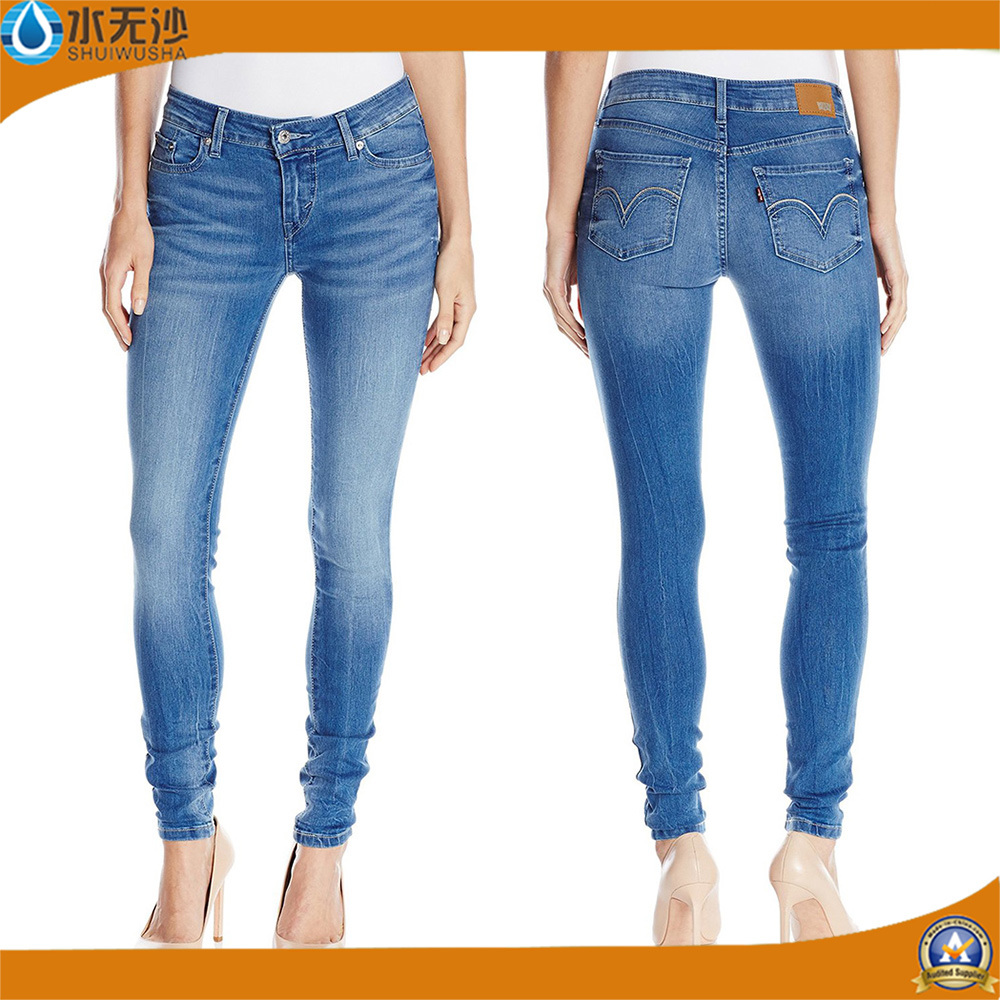 New Style Lady′s Coton Stretch Fashion Denim Jeans