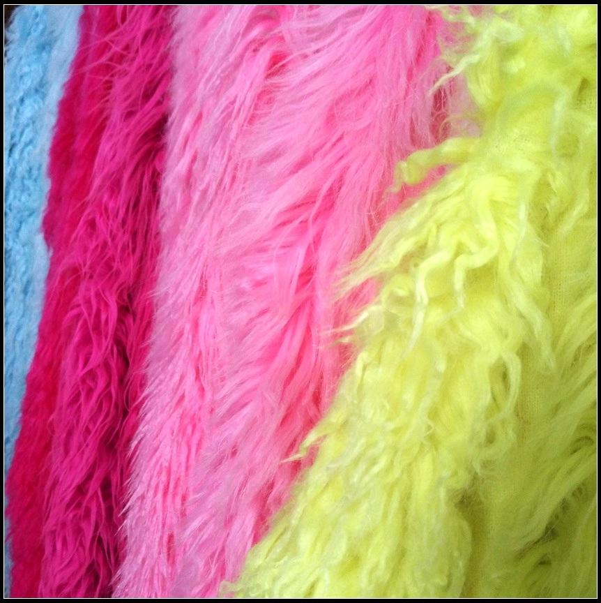 Faux Fur Fabric - Coral Fleece