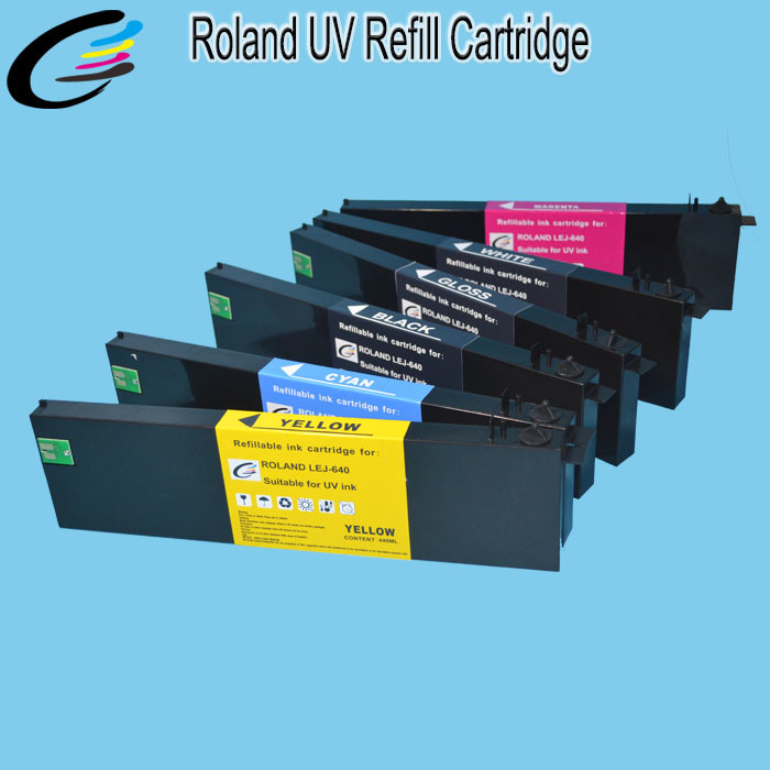 Eco UV Refillable Ink Cartridge for Roland Versa UV Lej-640 Bulk Ink Cartridge with Permanent Chip